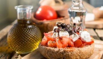 "Cretan cuisine 'Dakos"""
